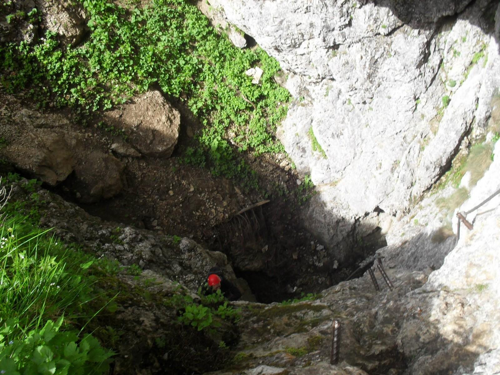 Výlez z Rosslochhöhlen