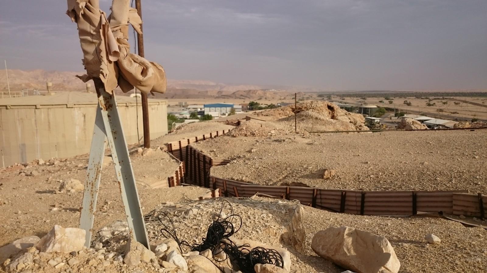 Konflikt s Jordanskem už je sice passé, ale zákopy kolem kibutzu pořád zůstavají