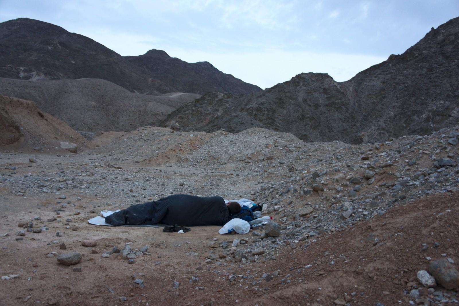 Poslední noc jsme strávili u turistické cesty do Massive Eilat Nature Reserve