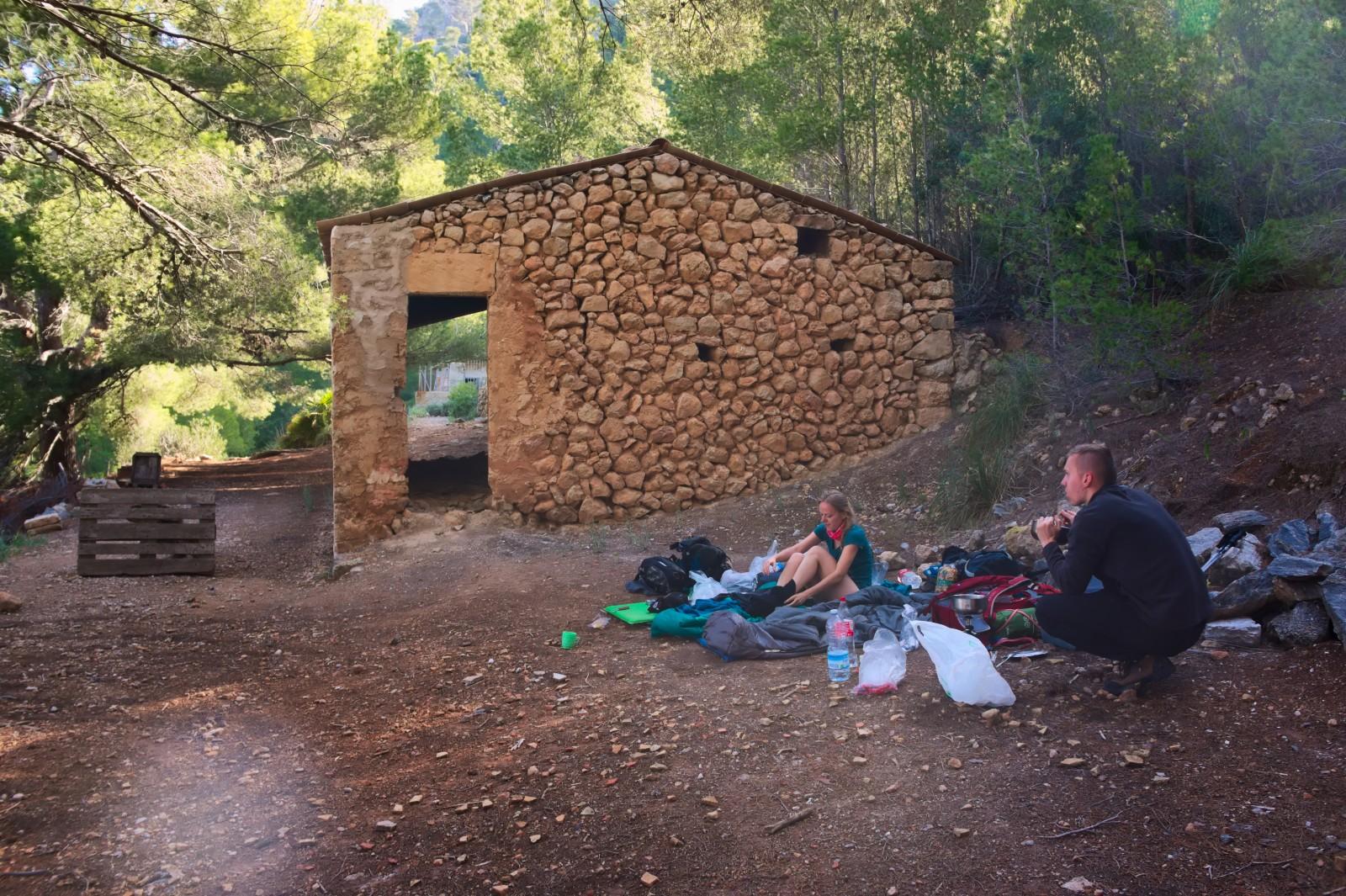 Spaní kousek za Sant Elm