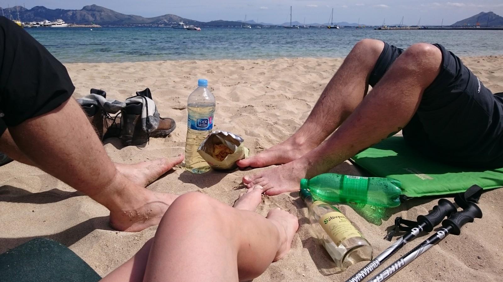 Na pláži v Port de Pollença