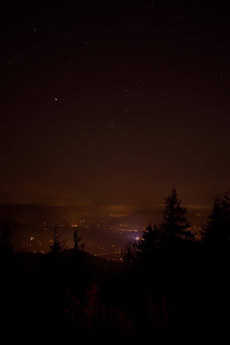 Výhled z vrcholu na Frýdlant nad Ostravicí