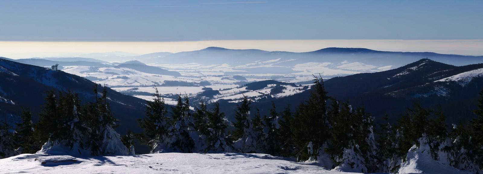 Výhled od Pramene Moravy