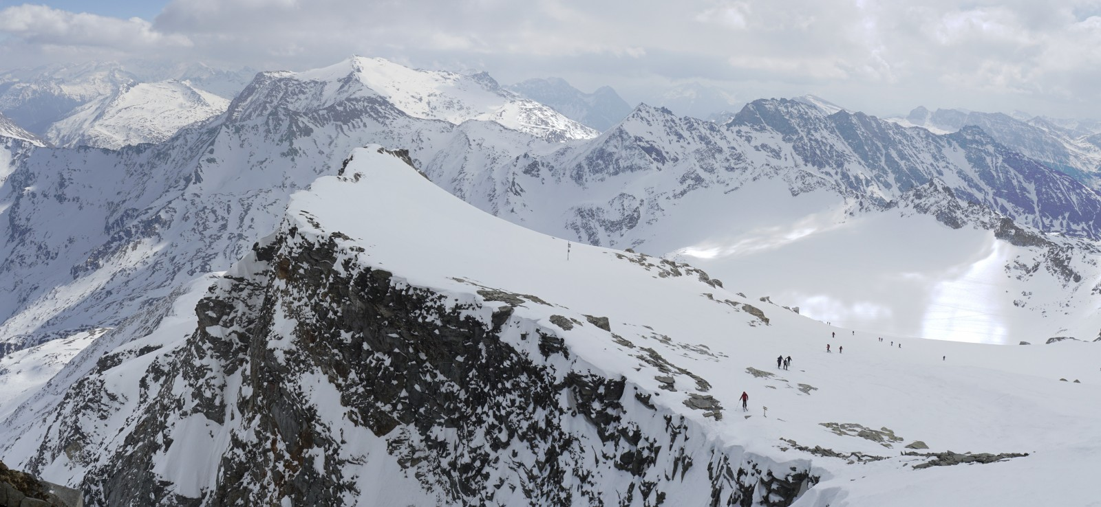 Výhled z Hoher Sonnblick
