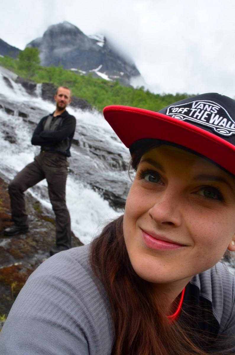 Selfie u vodopádu