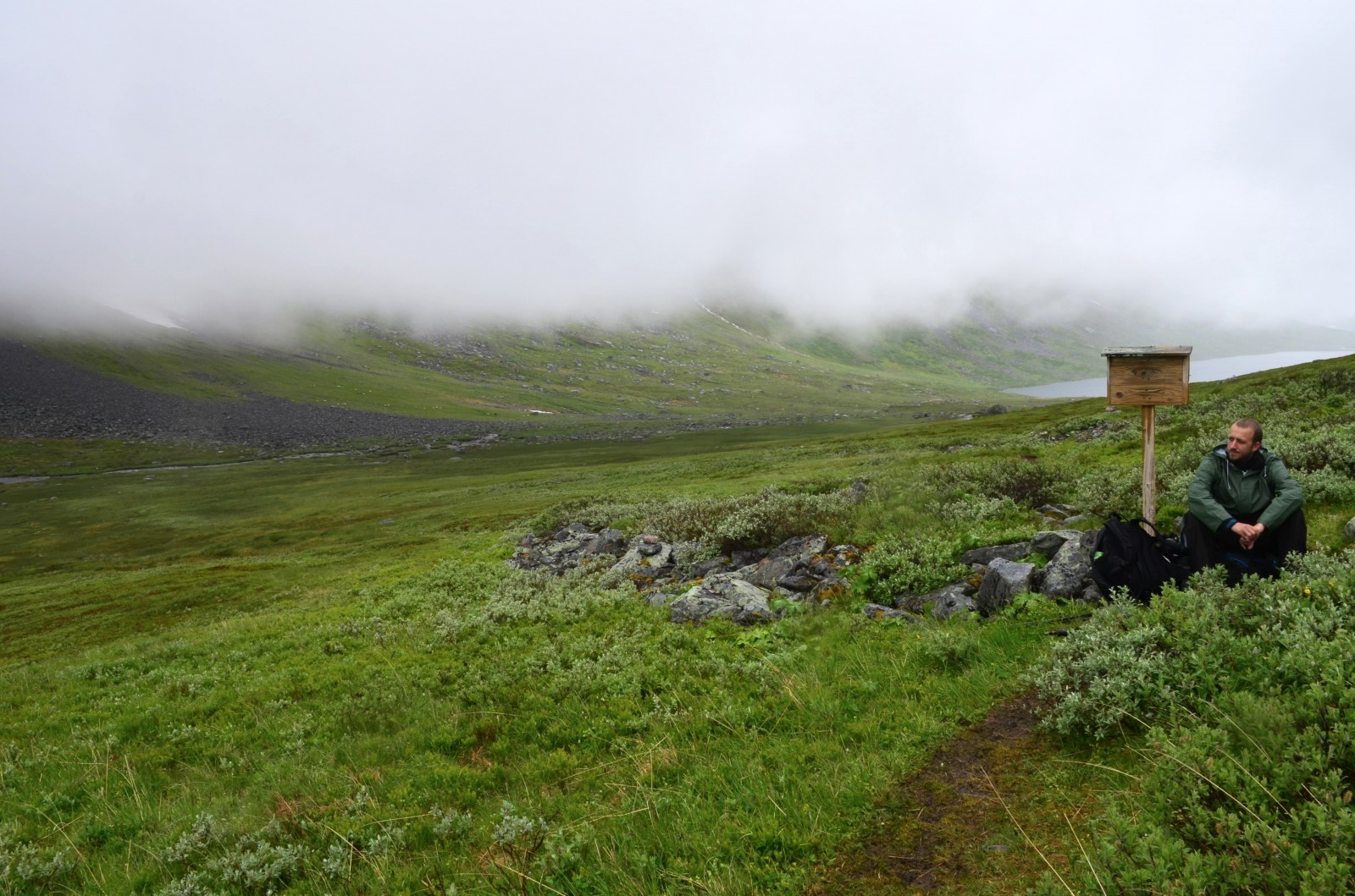 Na fotce to vypadá hezky, ale ve skutečnosti byla kosa, déšť a foukal vítr :/