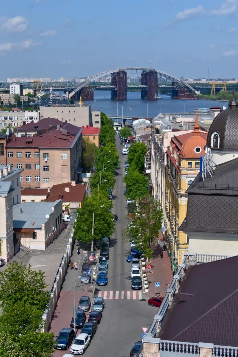 Výhled na Dněpr